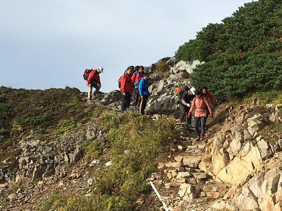 唐松岳に登山