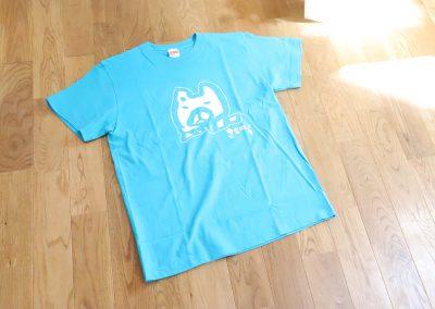 Tシャツ(ハチ公、青)
